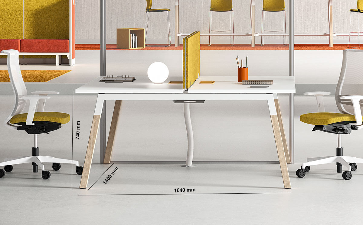 Union Workstation For 2 And 4 People Dimension Image