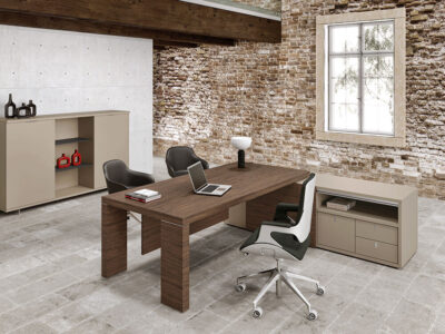 Alcee Executive Desk With Optional Credenza Unit 2
