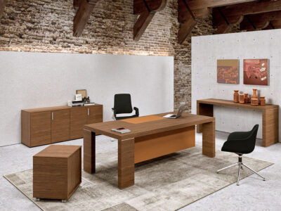 Alcee Executive Desk With Optional Credenza Unit 4
