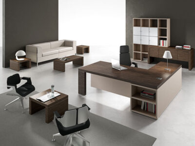 Alcee Executive Desk With Optional Credenza Unit 5