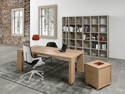 Alcee Executive Desk With Optional Credenza Unit Main Image