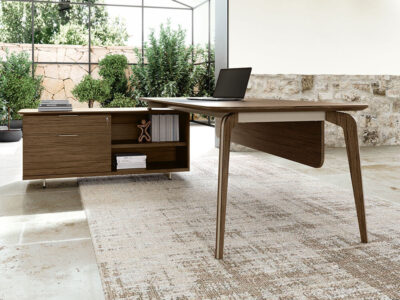 Aletta 1 Wood Executive Desk With Metal Legs With Wood Cover 3