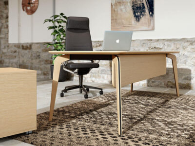 Aletta 1 Wood Executive Desk With Metal Legs With Wood Cover 6