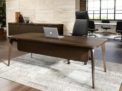 Aletta 1 Wood Executive Desk With Metal Legs With Wood Cover 8