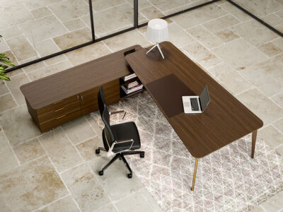 Aletta 2 Side Bowed Shaped Executive Desk In Wood 1
