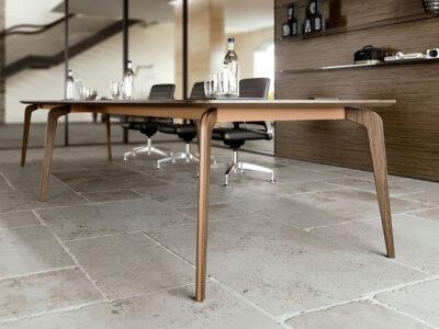 Aletta 5 Barrel Shaped Meeting Room Table 1