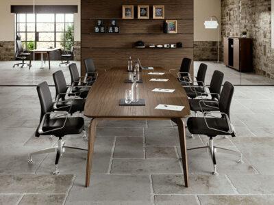 Aletta 5 Barrel Shaped Meeting Room Table 2