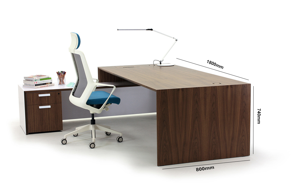 Amilcare Executive Desk With Return Size