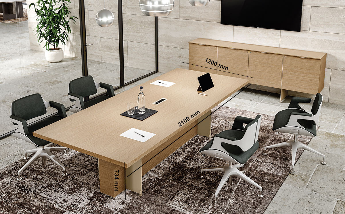 Antioch 1 Meeting Room Table With Modesty Panel Desk Size