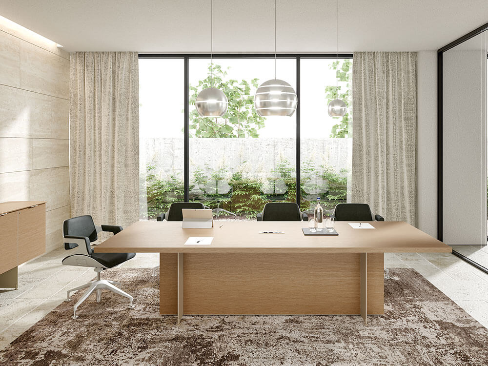 Antioch 1 Meeting Room Table With Modesty Panel Main Image
