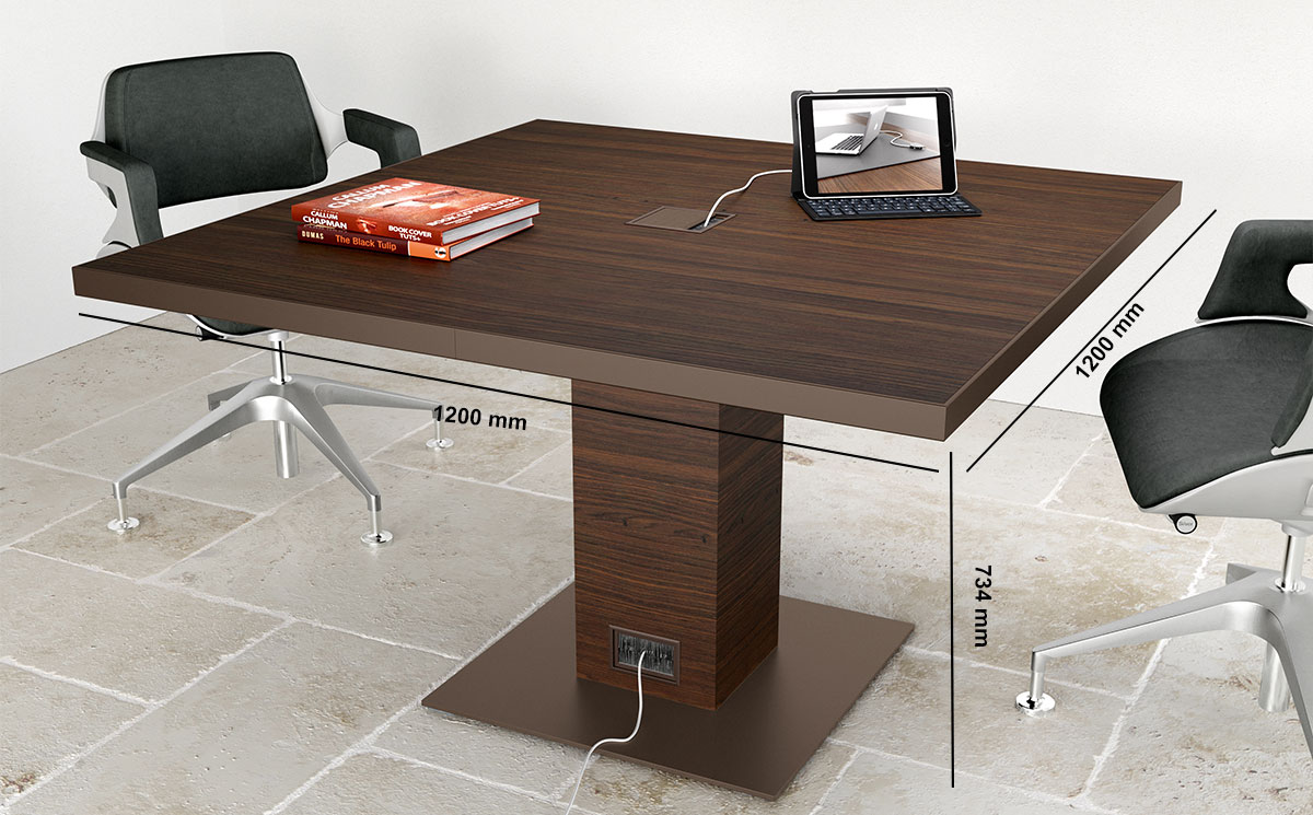 Antioch 3 Square Meeting Room Table Desk Size