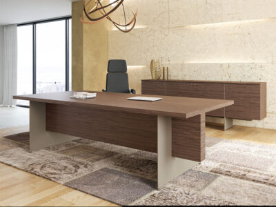 Antioch Executive Desk With Modesty Panel 1