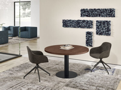 Bravvo 4 Round Meeting Room Table In Round Legs Main Image