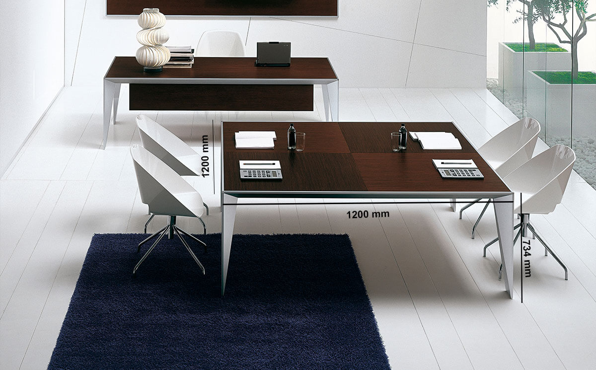 Prime 1 Square Meeting Room Table Desk Size