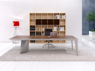 Prime 4 Rectangular Meeting Room Table With Single Base 1