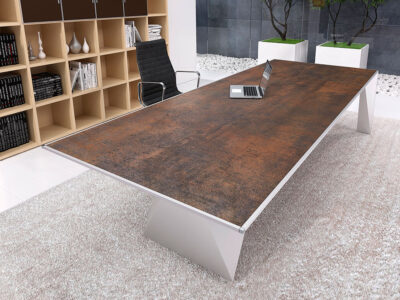 Prime 4 Rectangular Meeting Room Table With Single Base 3
