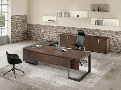 Romilda 1 L Shaped Legs Executive Desk With Optional Credenza Unit 1
