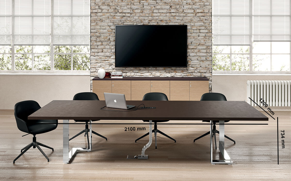 Romilda 4 Rectangular Meeting Room Table Desk Size