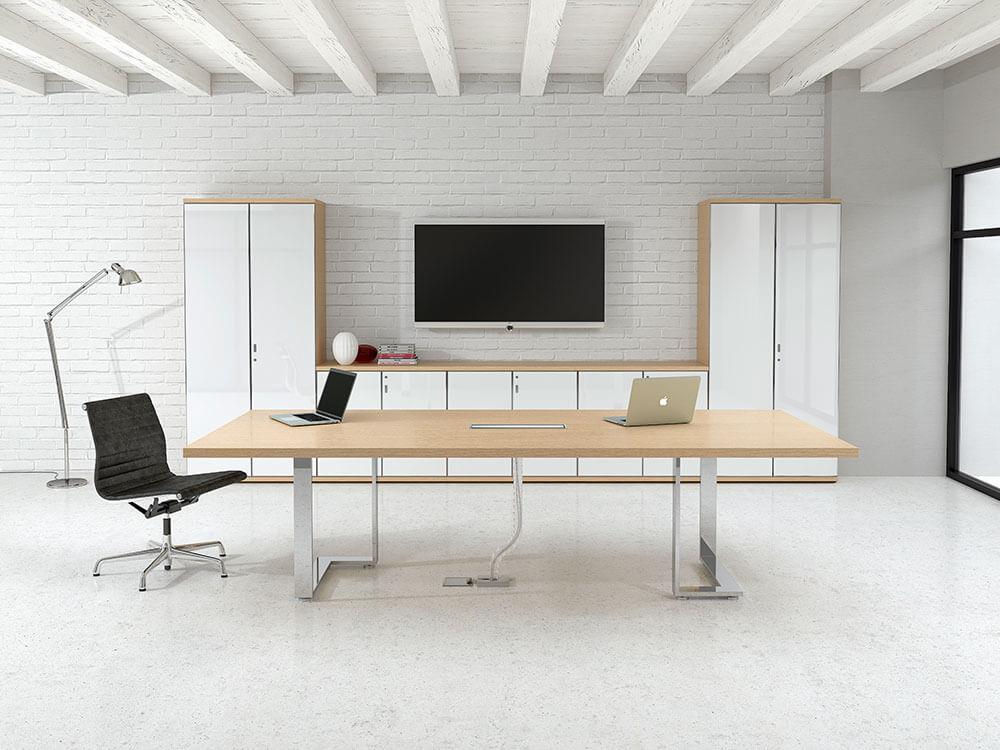Romilda 4 Rectangular Meeting Room Table Main Image