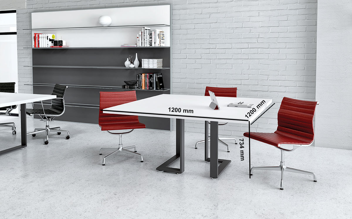 Romilda 5 Square Meeting Room Table Desk Size