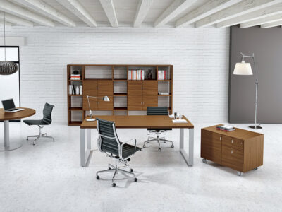 Romilda Ring Legs Exective Desk With Optional Return Main Image 1