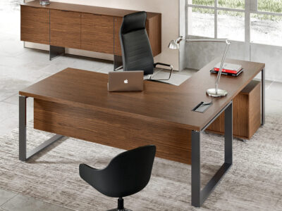 Romilda Ring Legs Exective Desk With Optional Return Main Image