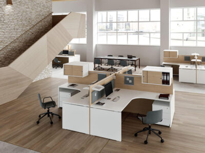 Amo 3 – Curved Operational Desk With Front Panel And Side Panel 1