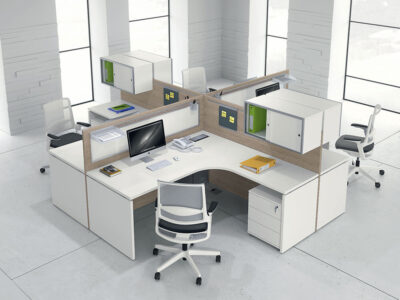 Amo 3 – Curved Operational Desk With Front Panel And Side Panel 2