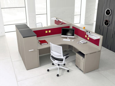 Amo 3 – Curved Operational Desk With Front Panel And Side Panel 3