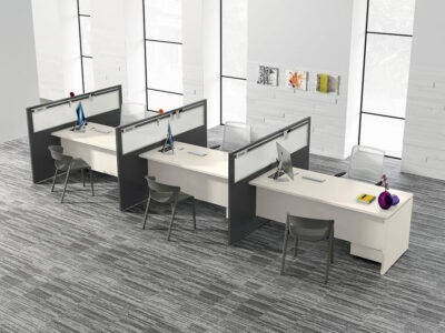 Amo 7 Slab Legs Operational Office Desk With One Side Panel Main Image