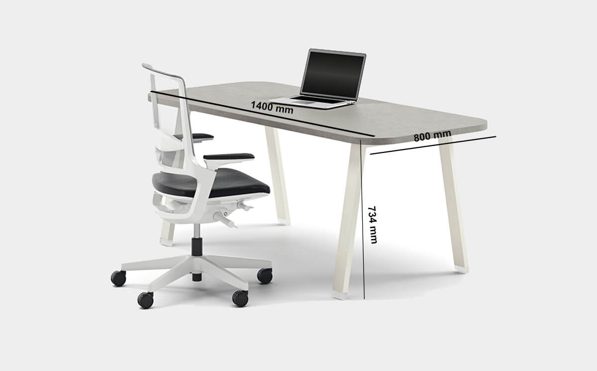 Carita 1 A Legs Executive Desk With Optional Modesty Panel And Credenza Unit Desk Size
