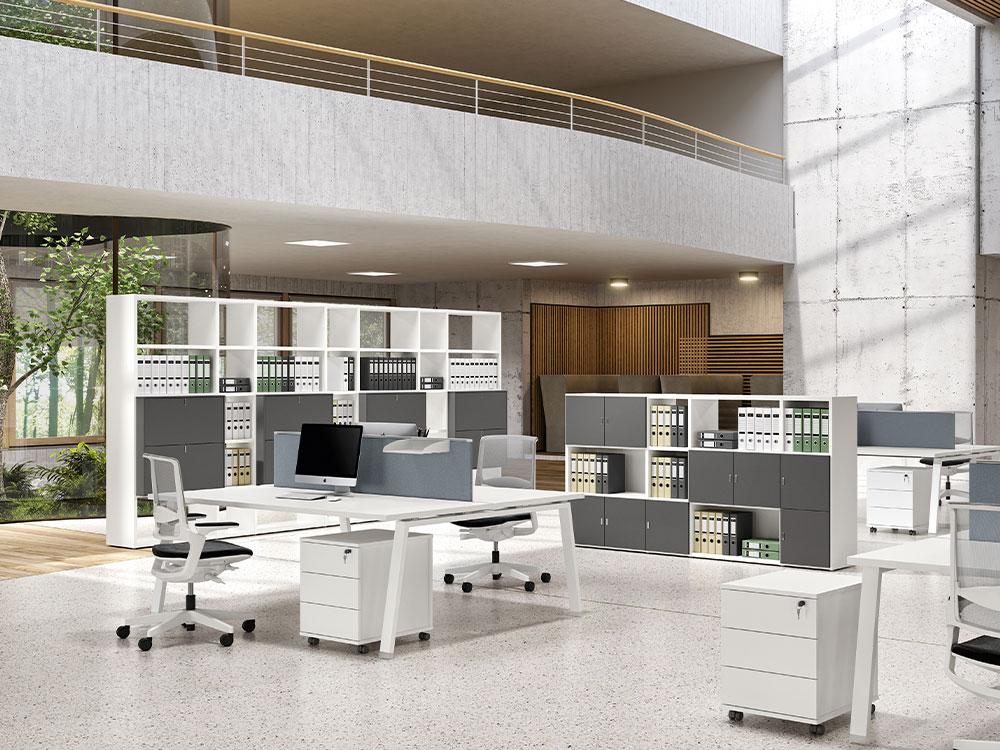 Carita 6 A Legs Back To Back Operator Office Desk Main Image
