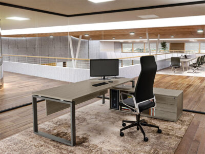 Carita Ring Legs Executive Desk With Optional Modesty Panel And Credenza Unit 1