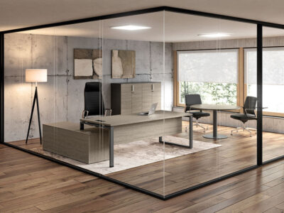 Carita Ring Legs Executive Desk With Optional Modesty Panel And Credenza Unit Main Image