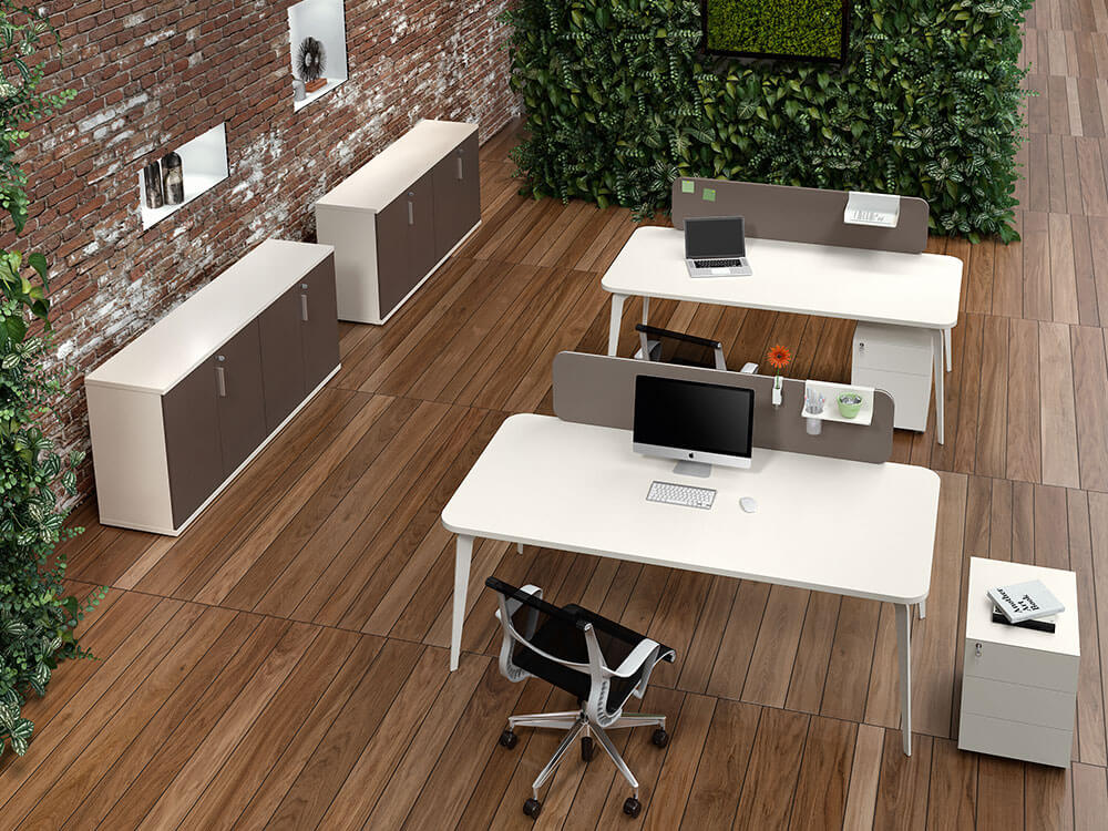 Donati 2 Operational Office Desk With Optional Desk Screen Main Image