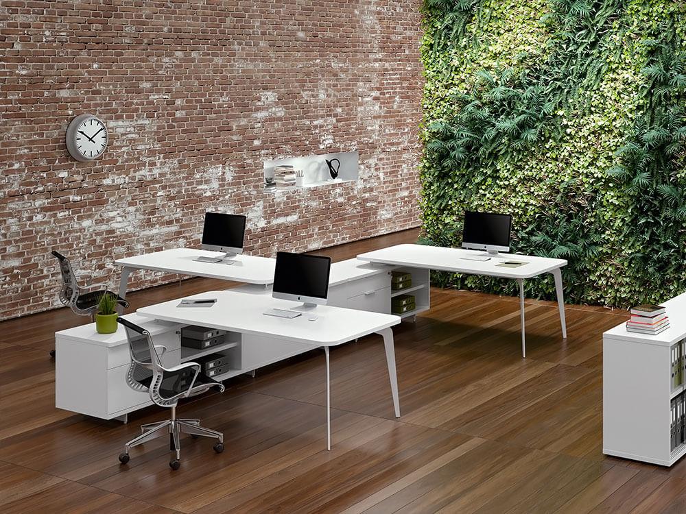 Donati 3 Operational Office Desk With Credenza Unit Main Image