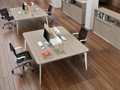 Donati 4 Back To Back Operational Office Desk 2