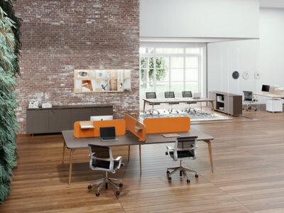 Donati 4 Back To Back Operational Office Desk 3
