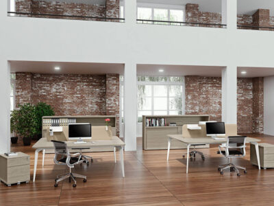 Donati 4 Back To Back Operational Office Desk Main Image