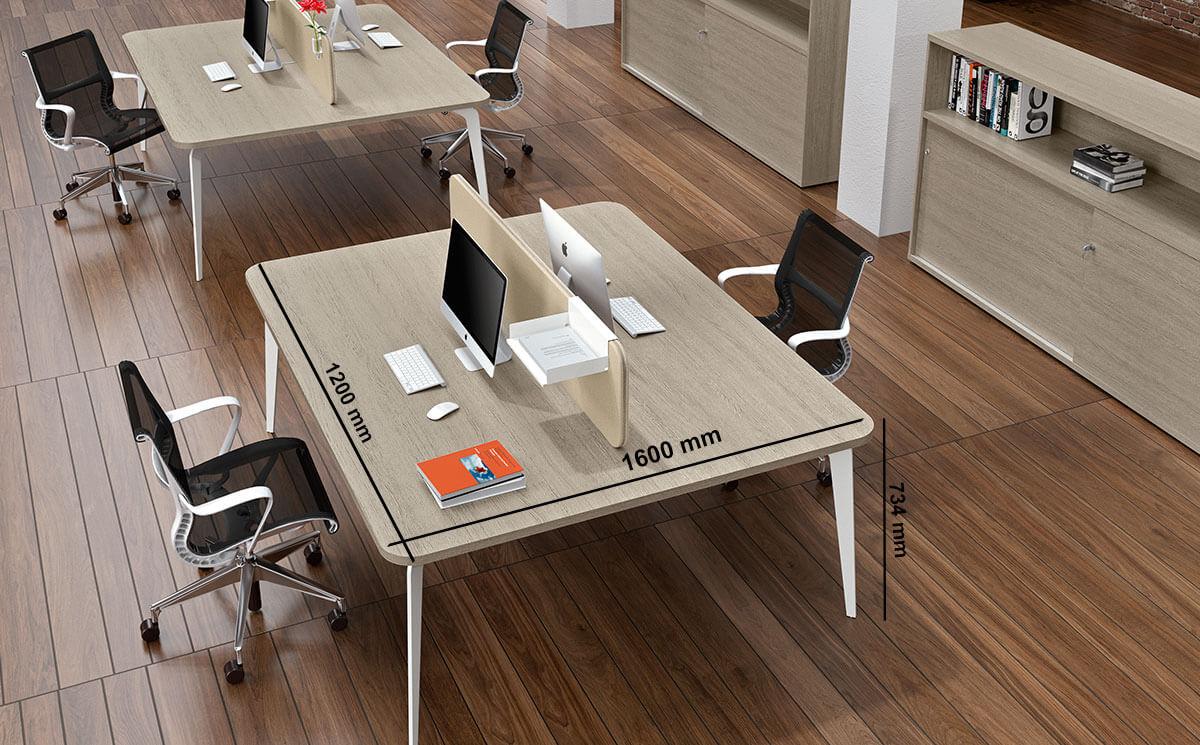 Donati 4 Back To Back Operational Office Desk Size