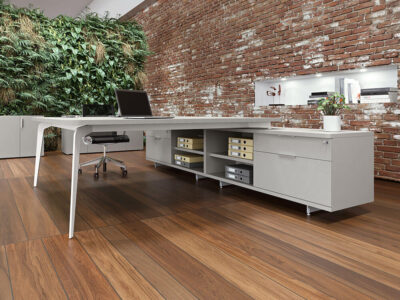 Donati 5 Back To Back Operational Office Desk With Credenza Unit 2